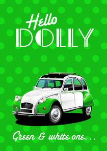 Citroen 2CV Dolly Poster Illustration by Russell  Wallis
