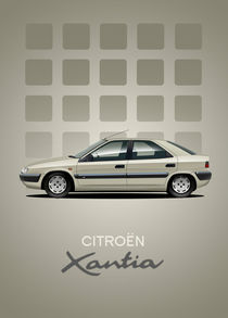 Citroen Xantia Poster Illustration by Russell  Wallis