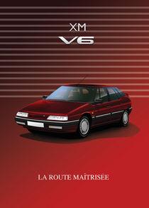 Citroen XM V6 Poster Illustration by Russell  Wallis