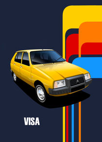 Citroen Visa Poster Illustration von Russell  Wallis