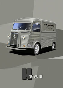 Citroen HY Van Poster Illustration by Russell  Wallis