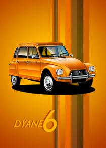 Citroen Dyane Poster Illustration by Russell  Wallis