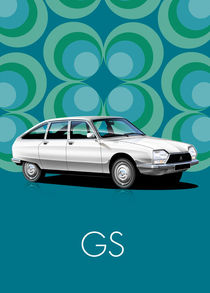 Citroen GS Poster Illustration by Russell  Wallis