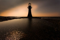 Whitford lighthouse Gower by Leighton Collins