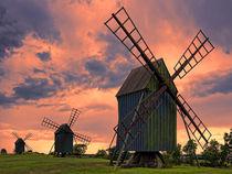 Mühlen auf Öland von Uli Gnoth