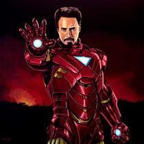 Robert Downey Jr. as Iron Man painting von Paul Meijering
