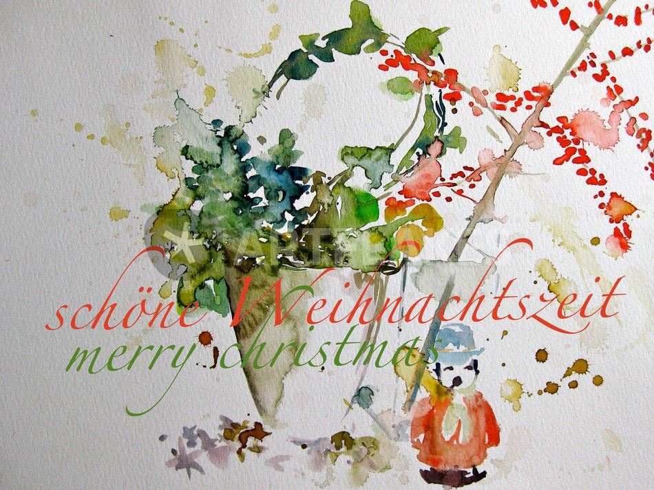 Sch ne weihnachtszeit malerei als poster und kunstdruck von sonja jannichsen bestellen - Aquarell weihnachten ...