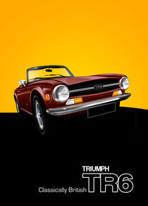 Triumph TR6 Poster Illustration by Russell  Wallis