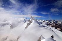 Nebel am Rimpfischhorn von Gerhard Albicker