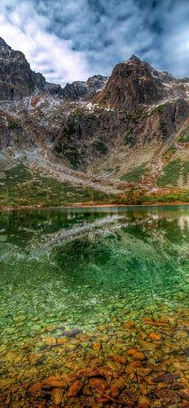 Reflection of mountain lake von Tomas Gregor
