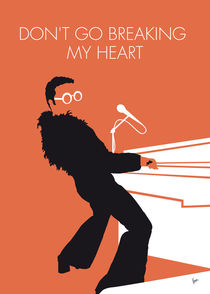 No053 MY ELTON JOHN Minimal Music poster von chungkong