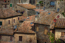 Volterra Rooftops by David Tinsley