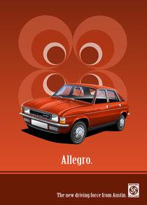 Austin Allegro Poster Illustration by Russell  Wallis