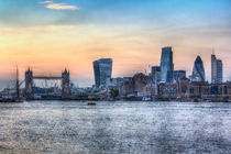 The River Thames and the City by David Pyatt