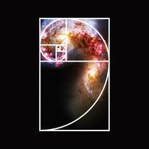 Fibonacci Spiral Galaxy by Galactic Mantra