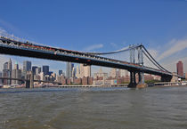 New York, Brooklyn und Manhattan Bridge by Mark Gassner