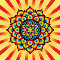 Flower of Life with Metatron's Cube by Galactic Mantra