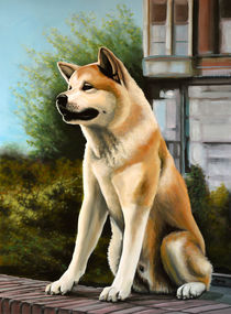 Hachi painting by Paul Meijering