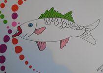 Manga fish by Amanda Elizabeth  Sullivan
