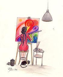 MaMamsell entspannt mit Art  ©KatKaciOu von Katrin KaciOui