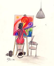 MaMamsell entspannt mit Art  ©KatKaciOu by Katrin KaciOui