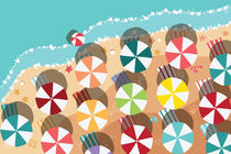 Beach Flat Design - aerial view/03 by bluelela