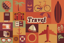 Flat Travel Icons by bluelela