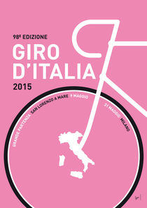 MY GIRO D'ITALIA MINIMAL POSTER 2015 von chungkong