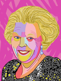 Portrait queen Beatrix - Portrait Königin Beatrix by Twan de Vos