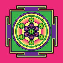 Metatrons-cube-mandala-green