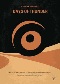 No332 My DAYS OF THUNDER minimal movie poster by chungkong
