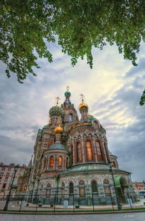 Dusk over church of the Savior on Spilled Blood von Chris R. Hasenbichler