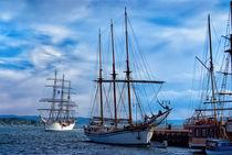 Segelboote vor Aker Brygge by Viktor Peschel
