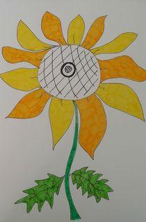 Sunshine sunflower by Amanda Elizabeth  Sullivan