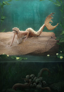 A mermaid's mournful serenade by Ana Cruz