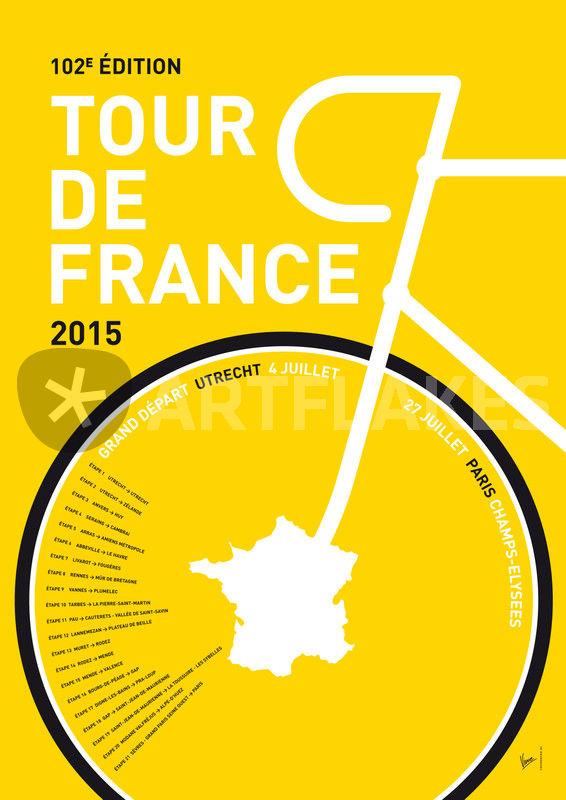 """my tour de france minimal poster"" graphicillustration"