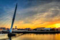 Millennium bridge Swansea by Leighton Collins