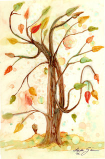 Whimsy Tree Painting by Linda Ginn