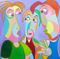 Gemälde Freunden Gespräch  - Painting Friends talk by Twan de Vos