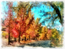 Der bunte Herbstweg (The colorful autumn walk) by Wolfgang Pfensig