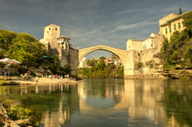 The Old Bridge at Mostar by Rob Hawkins