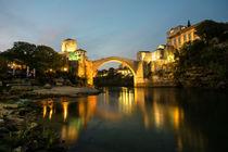 Stari Most by night  by Rob Hawkins