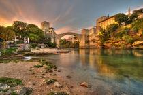 Stari Most at dusk  by Rob Hawkins
