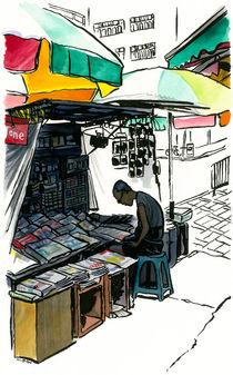 News stand, Kowloon, Hong Kong. von Michael Sloan