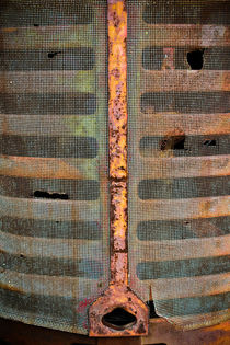 Rusted Grill - Abstract von Colleen Kammerer