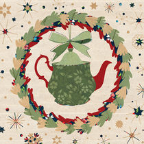 Christmas Teapot inside the Wreath von kata
