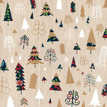 Colourful Christmas Trees by kata
