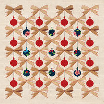 Christmas Ornaments and Bows Pattern  von kata