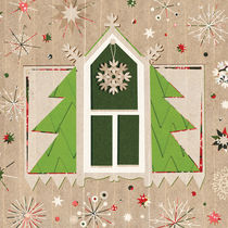 Christmas Window with a Tree Decor by kata