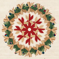 Christmas Snowflake Ornament inside the Wreath